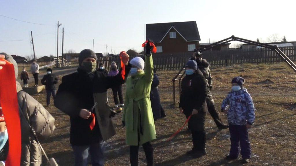 Открытие спортивной площадки в с.Киргишаны