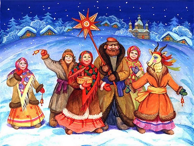 Весёлые рождественские колядки-стихи для детей на Рождество